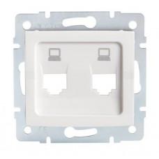 LOGI Adaptér datové zásuvky 2xRJ45 - bílý