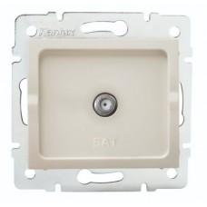 LOGI Anténní zásuvka typu F (SAT) - krémová