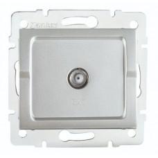 LOGI Anténní zásuvka typu F (SAT) - stříbrná
