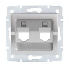 LOGI Adaptér datové zásuvky 2xRJ45 - stříbrný